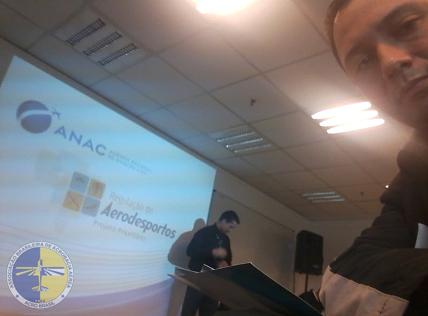 Jorge Rodrigues representando a ACRO na reunião da ANAC